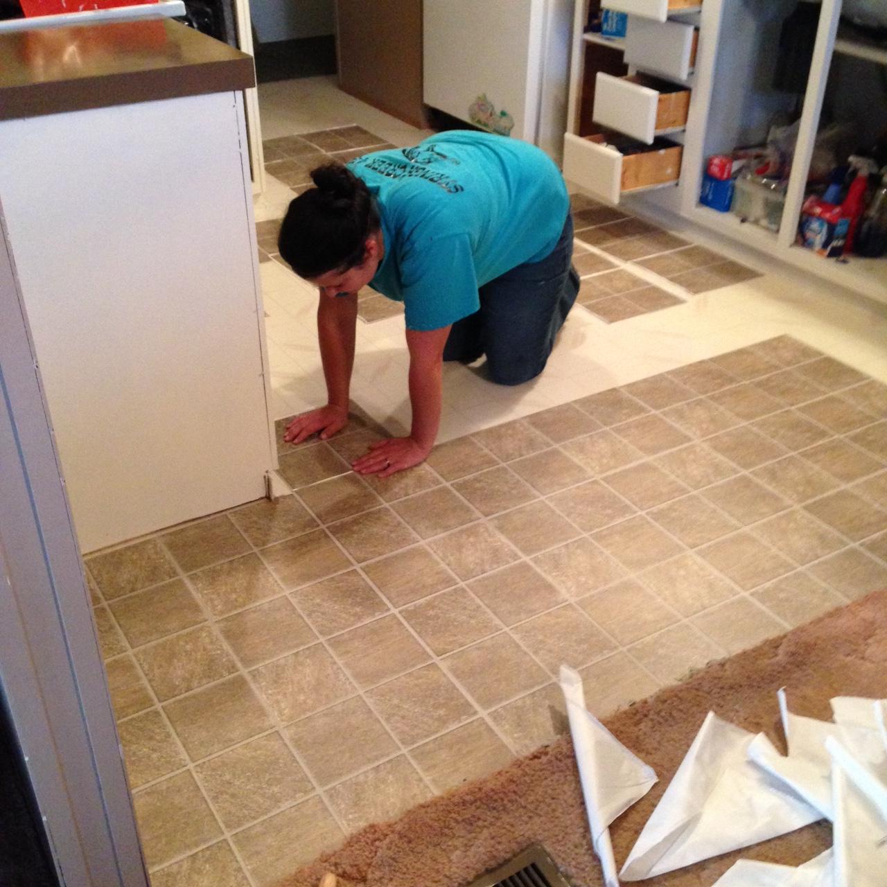 installing the vinyl flooring
