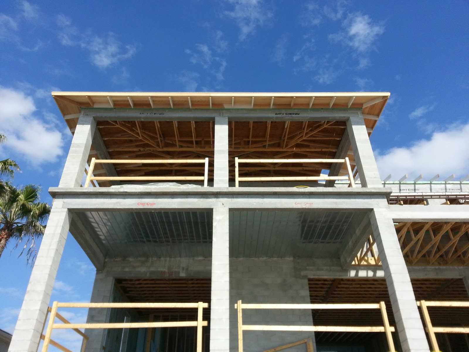 The roof overhang and sheathing the schmidt residence for Roof sheathing material options