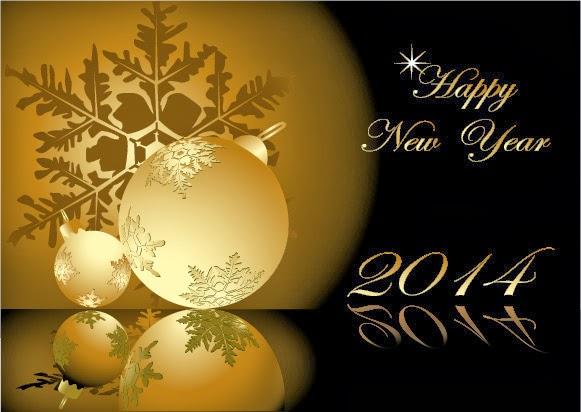 felicitación navideña oro y moka