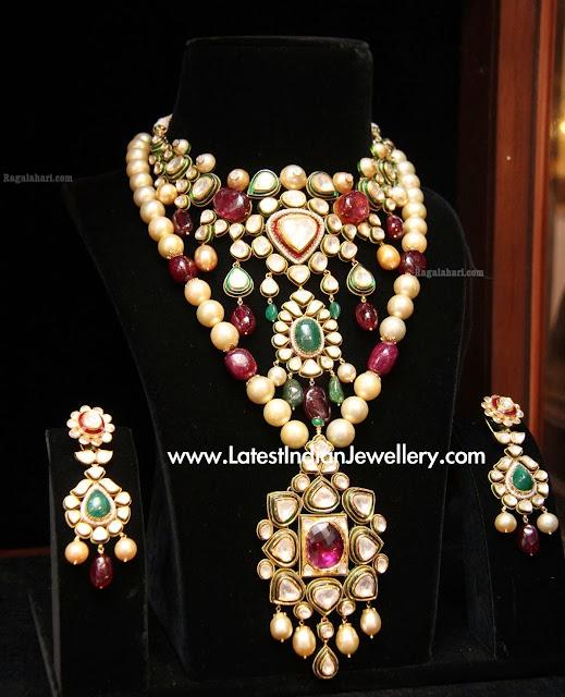 Latest Jadau Jewellery Set