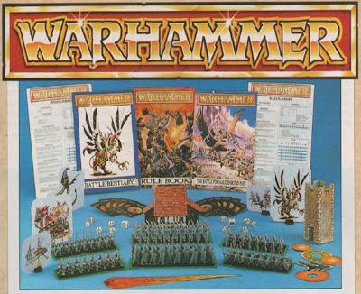 Contenido de la caja de la cuarta edición de Warhammer Fantasy Battle