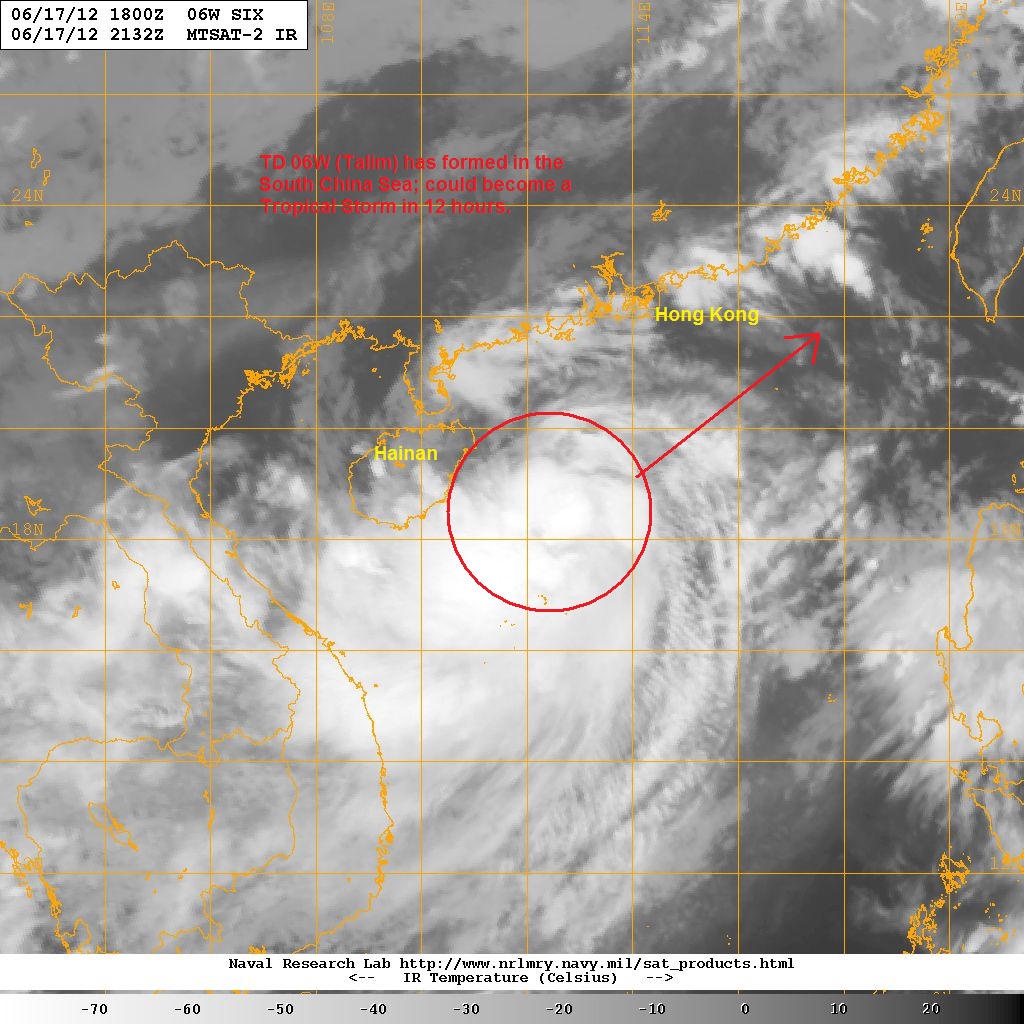 the system was able to consolidate in the past 12 hours due to warm sea temperatures and weak wind shear it is embedded along a monsoon trough that has