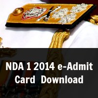 NDA 1 2014 e-Admit Card/ Hall Ticket Download