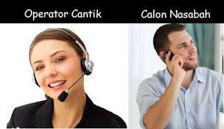 Operator dan calon Nasabah
