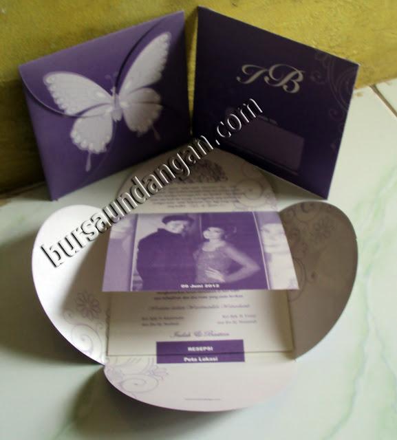 Kartu Undangan Kupu-kupu Unik - Kode BJ1K Unggu