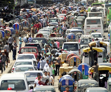 beautiful traffic jam of and solution of  traffic jam