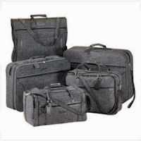 image of luggage set for traveling