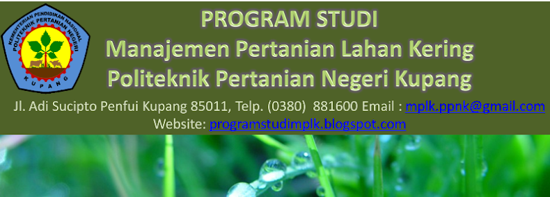 Manajemen Pertanian Lahan Kering Politani Kupang