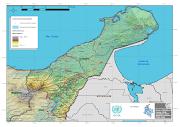 La flecha roja indica el círculo negro, en donde se ubica La Junta (laguajira )