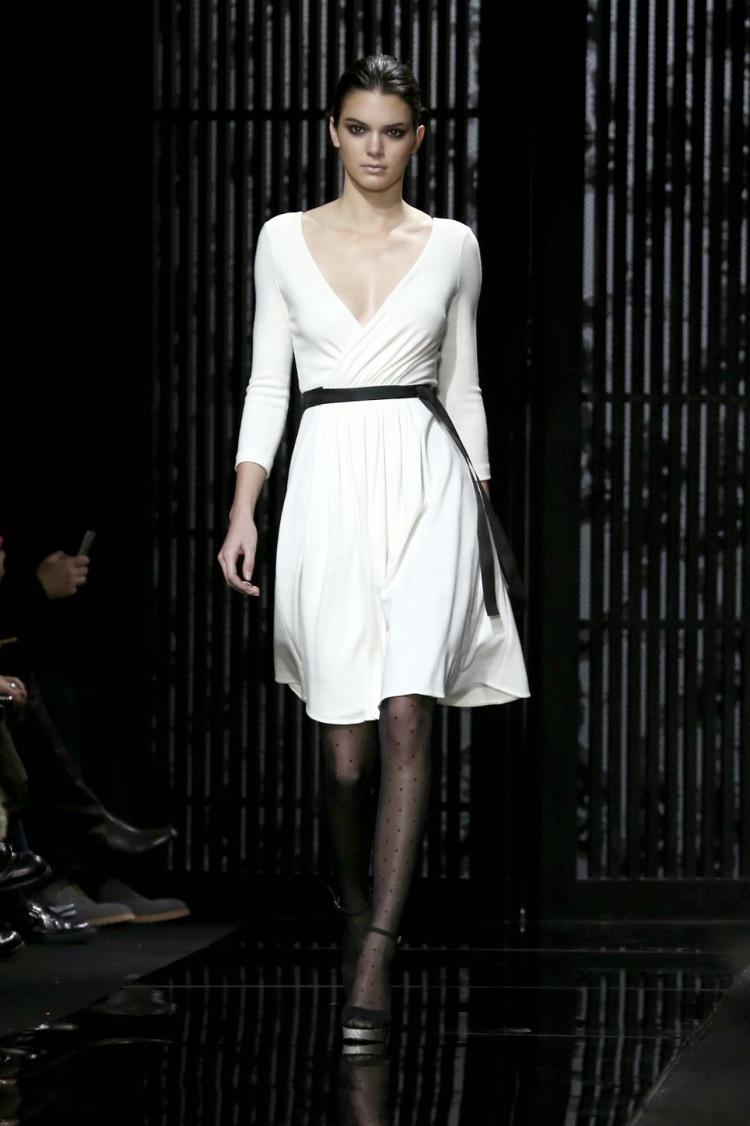 Kendall Jenner Is Classy In White At The Diane Von Furstenberg Fall Winter 2015 New York Fashion