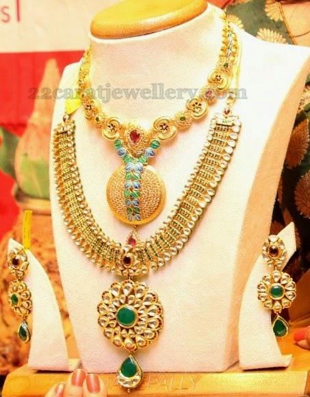 Meena Work Trendy Gold Jewelry Jewellery Designs