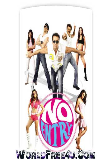Poster Of Bollywood Movie No Entry (2005) 300MB Compressed Small Size Pc Movie Free Download worldfree4u.com