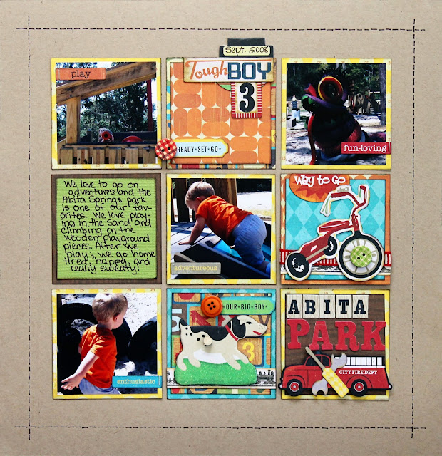 Toddler Boy_Park_Scrapbook Page_Masculine