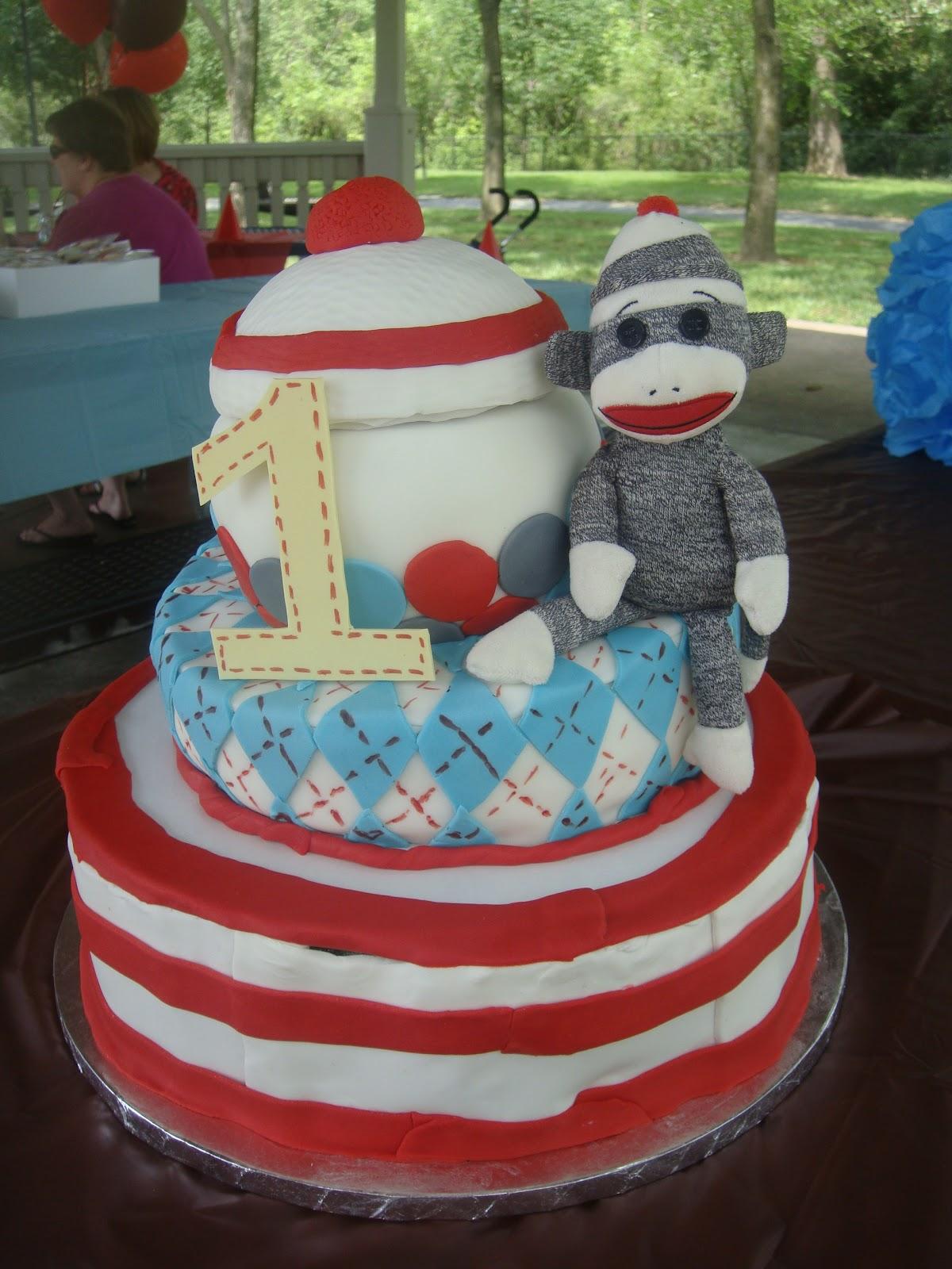 Cakes By Lam Designs Sock Monkey 1st Birthday Cake