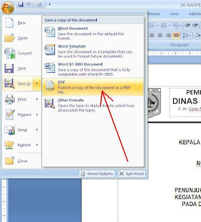 Cara Membuat File .PDF dari Microsoft Office Word
