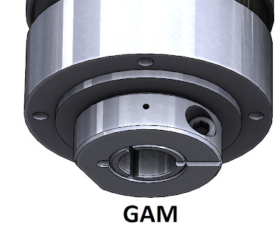 GAM Gearbox with radial clamping to prevent motor slippage