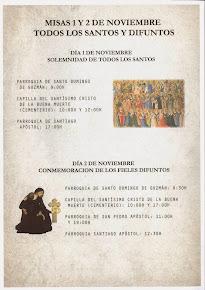 Festividad de Todos los Santos y Fieles Difuntos. Pincha en el cartel