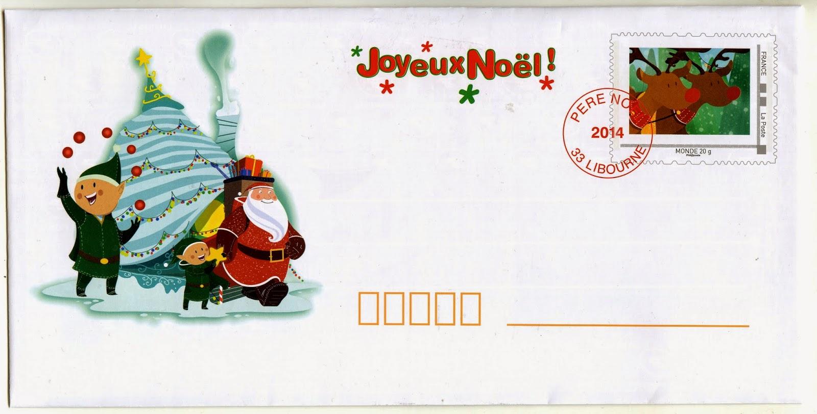 Blog philat lie cartophilie de michel le courrier du p re no l et la poste - Enveloppe de noel ...