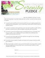 Serenity Pledge