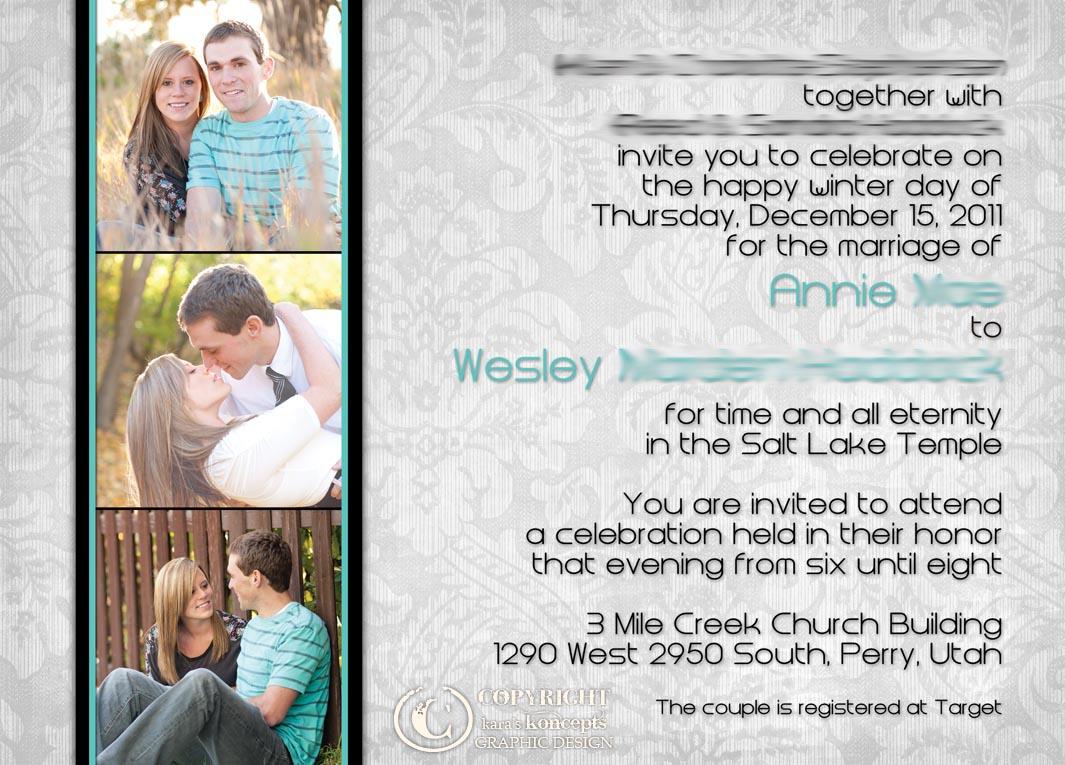 annie wes modern vintage style wedding invitations - Wedding Invitations Utah
