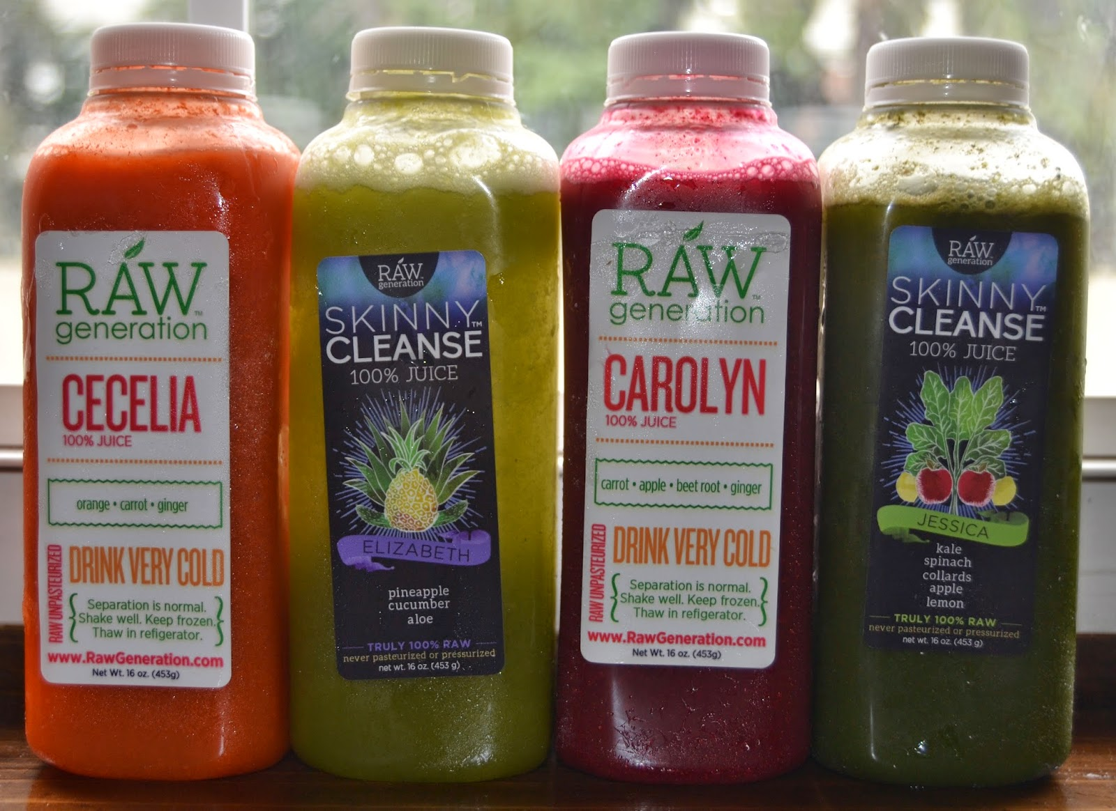 Raw Generation juices