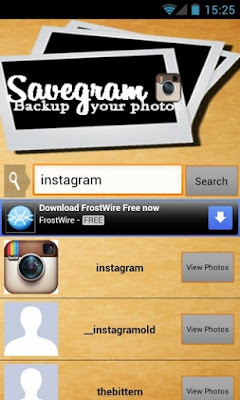 SaveGram Cydia App