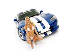 Bikini Babe And Ford Mustang