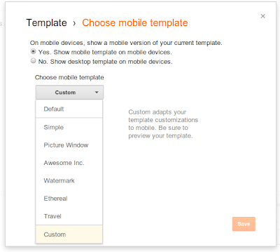 Introducing custom mobile templates for Blogger