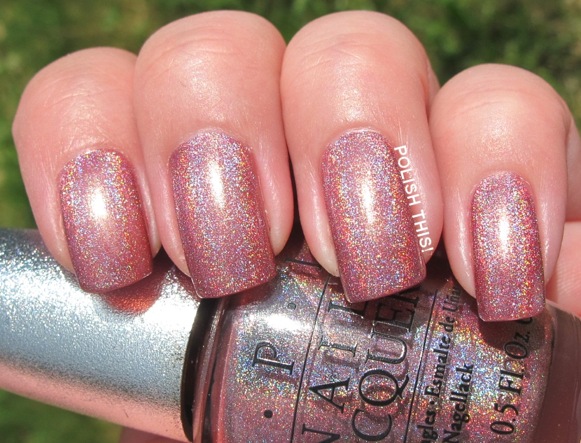 Last But Not Least Is Opi Ds Pion I Have Three Coats Here With Base And Top Coat This Was Quite A Sheer One It Almost Looked Liked Could