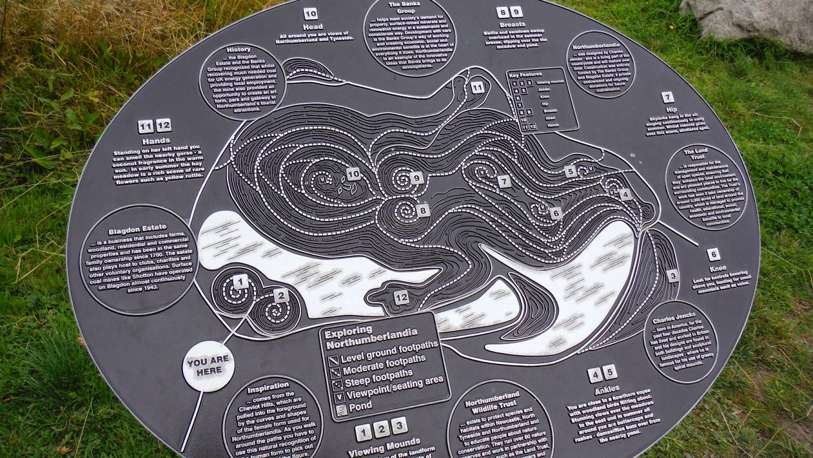 Northumberlandia+map