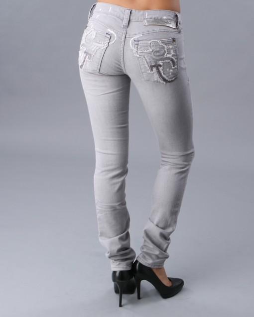 Grey Women Skinny Jean