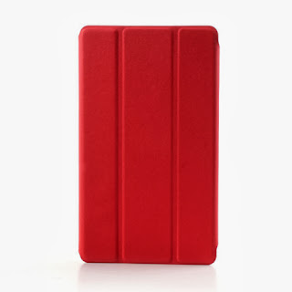 Tri-Fold Folio Stand Leather Case Cover for Asus Google Nexus 7(2013) II 2nd Generation - Red