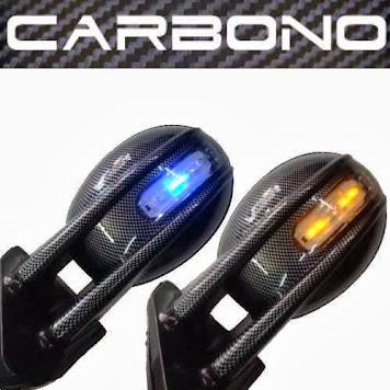 Retrovisor Carbono C/ Pisca Tuning - R$ 120,00