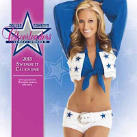 12Inch X 12Inch  2013 Dallas Cowboy Cheerleaders  Swimsuit Wall Calendar