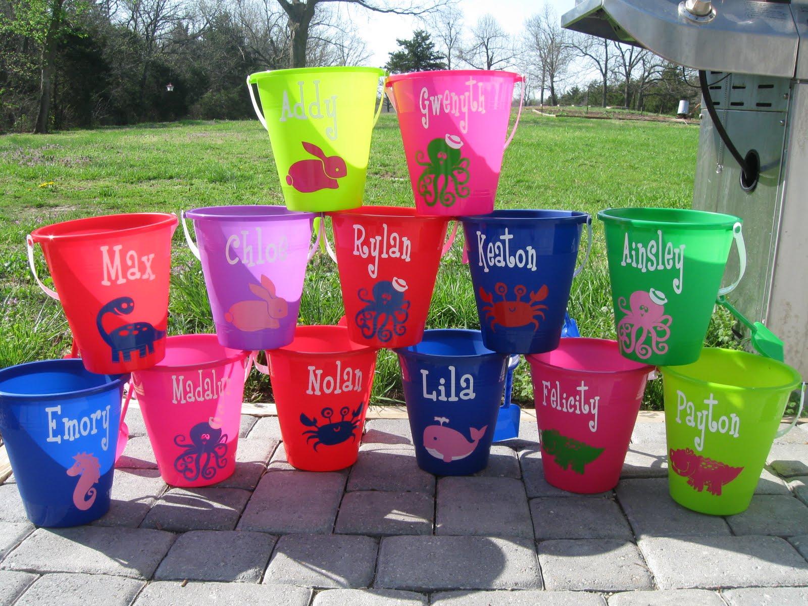 de la design more personalized sand beach bucket pail with shovel