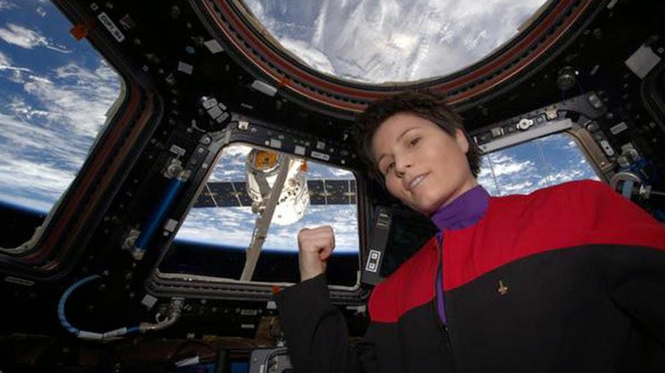 ISS star trek selfie