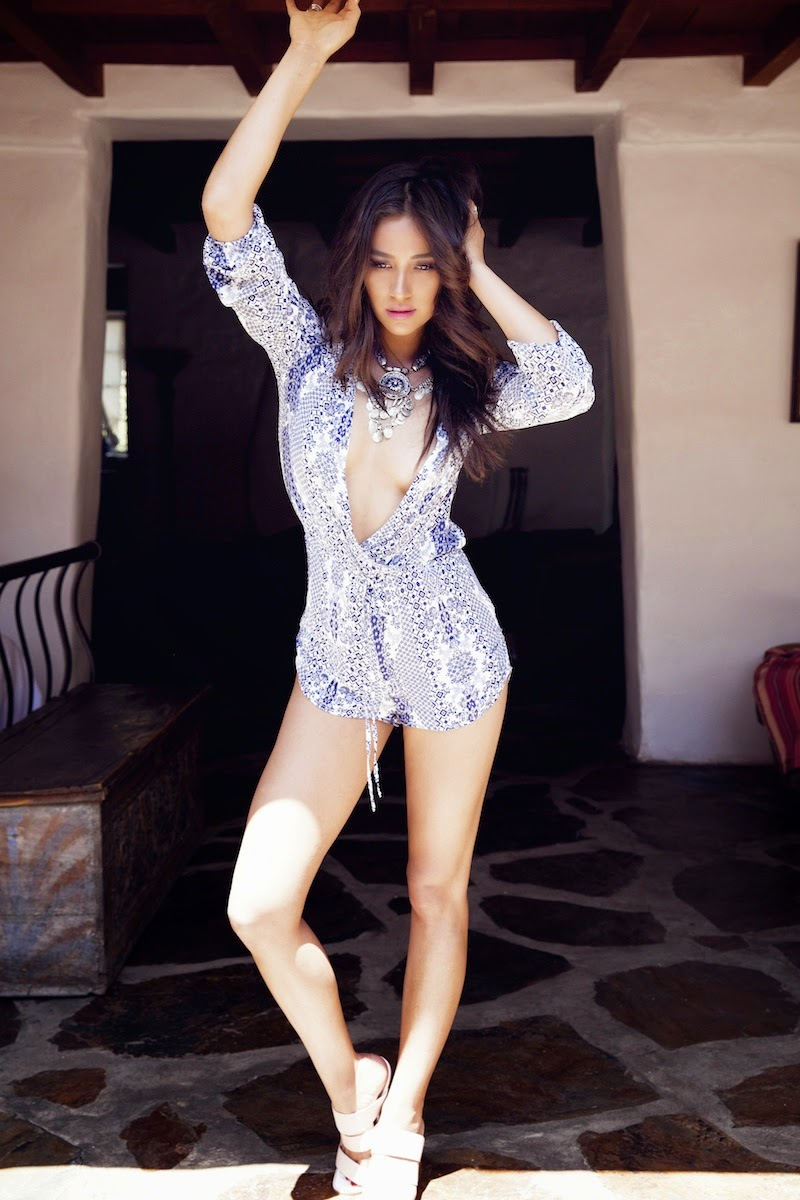 Shay Mitchell goes glamorous for Amore and Vita photoshoot