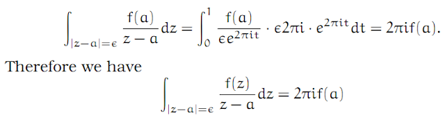 Complex Analysis: #5 Cauchy`s Integral Formula equation pic 2