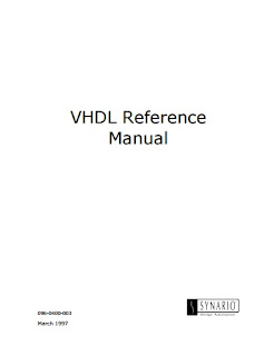 Synario VHDL Reference Manual