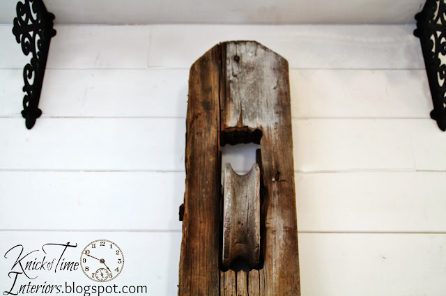 Upcycled Antique Barn Pulley and Bread Tins Wall Bins via Knick of Time