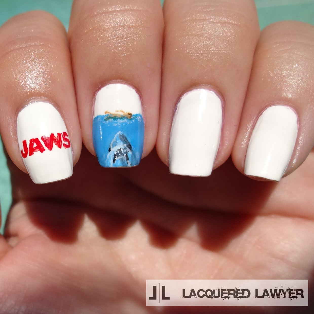 Jaws Nail Art