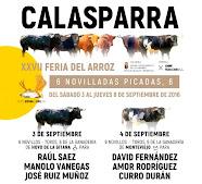 """Manolo Vanegas, anunciado en la """"Feria del Arroz""""de Calasparra, el 03/09."""