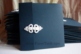 oriental knot pocket card
