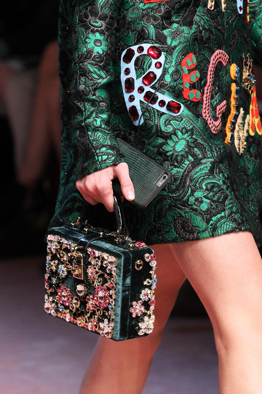 Dolce & Gabbana AW15 green iPhone 6 case | Photo: Marcus Tondo / Indigitalimages.com