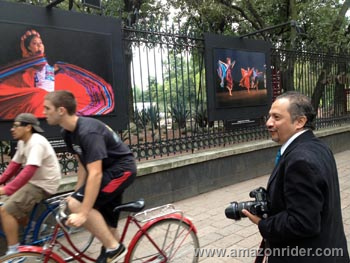 Photography exhibit of Mexico's Ballet Folklorico at Chapultepec Park in Mexico City