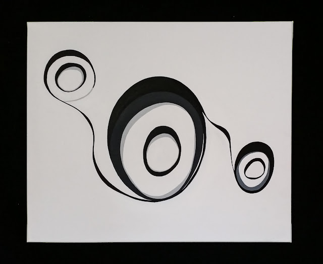 Matthew G. Beall Art : Circle 9  : 60 x 50 cm : Acrylic on Canvas