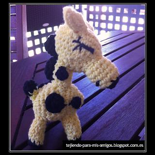 Patron de jirafa amigurumi
