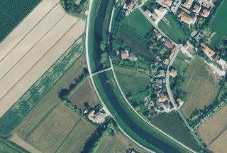 Foto aerea del sito ove insiste la passerella