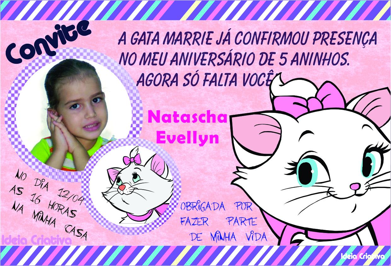 Convite Personalizado Gata Marie