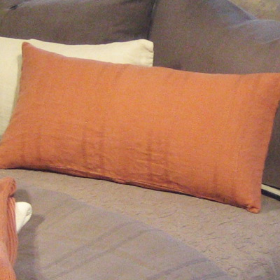 Orange Throw Pillows For Bed : Baby Cakes Blog: Pumpkin Pillow, Orange Throw Pillows, Spice Colored Bedding
